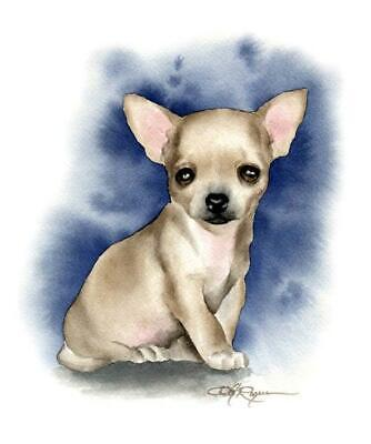 CHIHUAHUA Dog Painting ART 11 X 14 LARGE Signed DJR