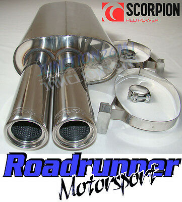 Scorpion Back Box Stainless Steel Exhaust BMW 325 E30 85-88 Inc Cabrio & Touring