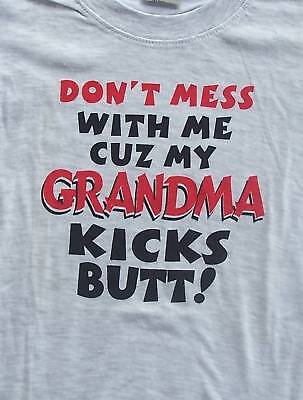 Fun Girls/Boys Tshirt Top -GRANDMA KICKS BUTT size 0-6