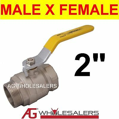 "2"" Ball Valve Tap Male X Female H/duty Irrigation"
