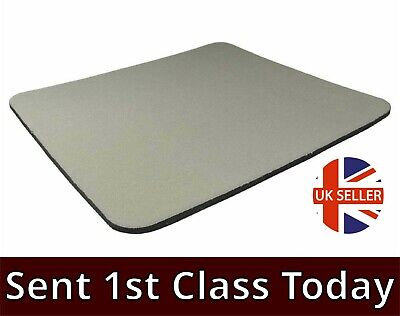 GREY Quality Mouse Mat Pad Foam Backed Fabric 5mm LARGE