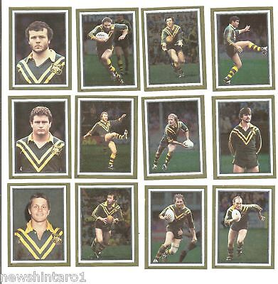 1983 Rugby League Gold Foil Stickers - Kangaroos