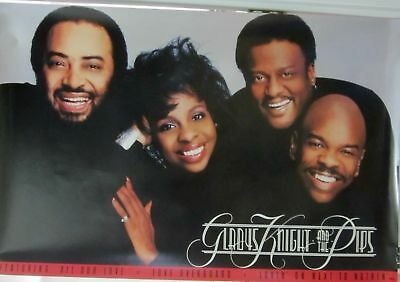 Gladys Kight & Pips - ALL OUR LOVE [1987] Vintage Promo Poster - NM