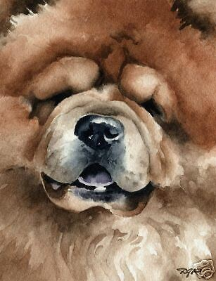 CHOW CHOW Dog Painting ART 11 X 14  LARGE Signed DJR