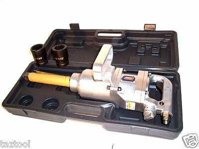 "1"" Dr Air Impact Wrench Long Shank 1900 Ft/lb 1"" Drive Truck Lug Nut Remover"