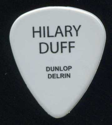 HILARY DUFF 2004 Debut Tour Guitar Pick!!! JAY GORE custom concert stage Pick