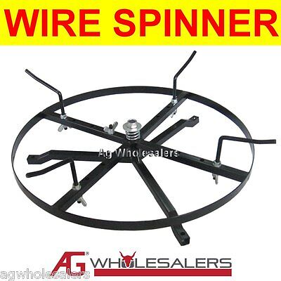 Wire Spinner Dispenser - Full Size Steel Wire Electric Fence Fencing Reel Winder