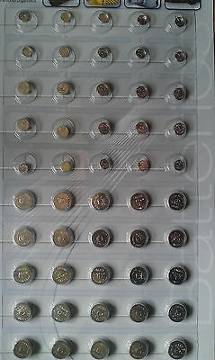 50 X  Assorted Button Cell Watches,games Etc Batteries.