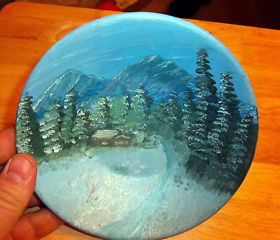 Hand Painted Alaska Gold Pan 7 inches across Beautiful!