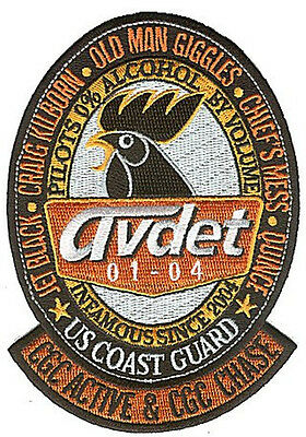 AVDET 01-04 ACTIVE CHASE W4829 USCG Coast Guard patch