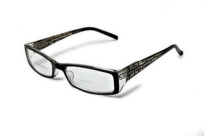 Mens Trendy 'bifocal' Reading Glasses.patterned Arms