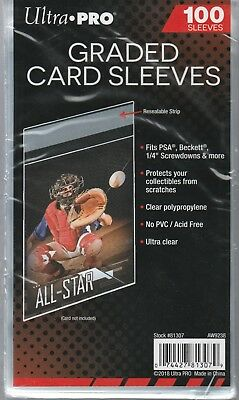 100 Ultra-Pro Resealable Graded Card Bags / Sleeves