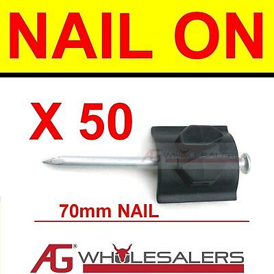 Nail On Post Insulator For Electric Fence Wire 50 Pk In
