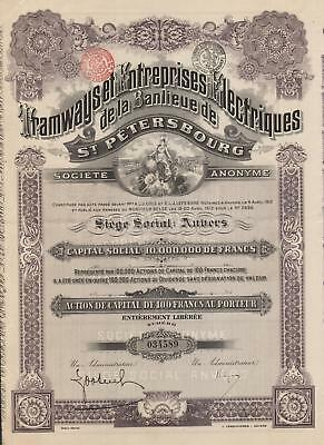 RUSSIA TRAMWAYS OF ST PETERSBURG stock certificate