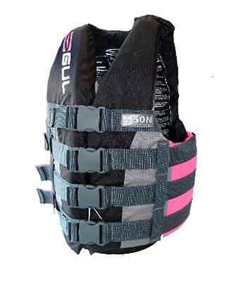 GUL JUNIOR BUOYANCY IMPACT JACKET 4 BUCKLE VEST Jetski Waterski - PINK