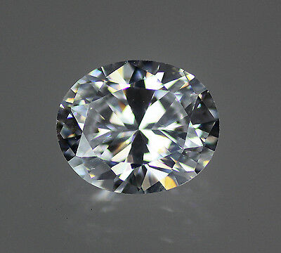 White / Clear Oval Cubic Zirconia CZ loose, Size Choice