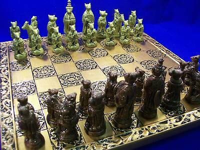 The Ancient Chinese Rats Chess Set  metallic effect
