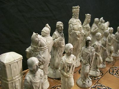 The Camelot Chess Set  No 2  marble effect finish