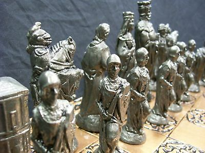 The Camelot Chess Set  No 2  metallic effect finish