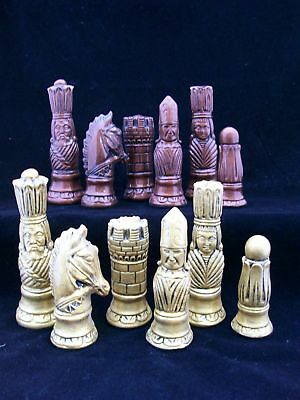 The Victorian Chess Set  antique metallic effect