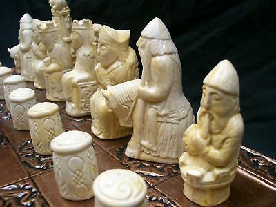 The Medieval Chess Set No 2 (set only) marble effect