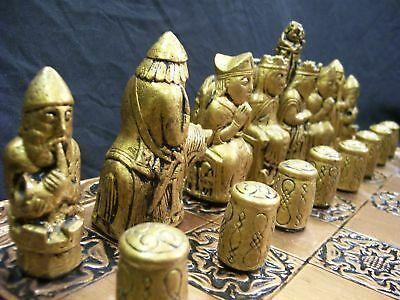The Medieval Chess Set No 2 (set only) metallic effect