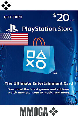 PSN Playstation Network Card Key $20 USD - 20 US Dollar USA Sony PS3 PS4 PSP US
