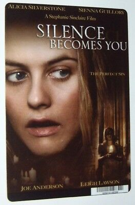 SILENCE BECOMES YOU promo art card ALICIA SILVERSTONE