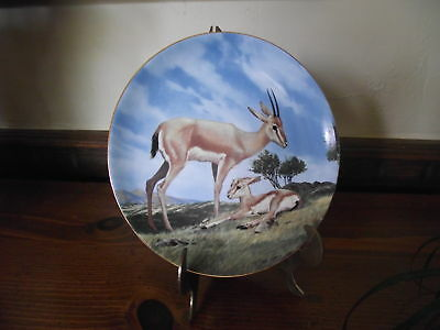 Plate W S George China SLENDER HORNED GAZELLE W Nelson