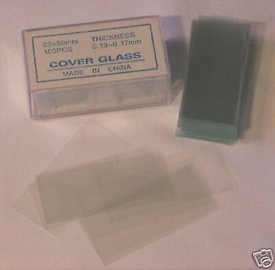 Microscope Slides Cover Glass Slip 22*50 mm 100 pcs New
