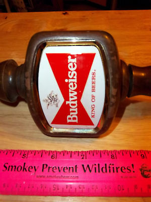 Budweiser Beer Large Wood Tap Handle, great collectible
