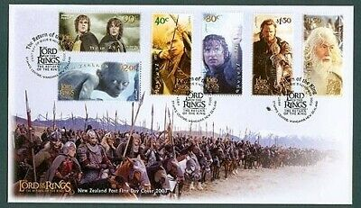 New Zealand Fdc 2003 Lord Of Rings Return Of King