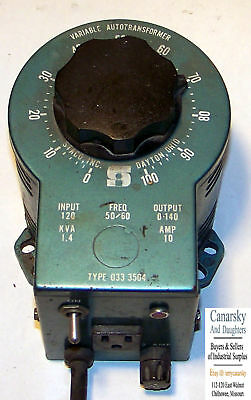 1 Used Staco Type 033-3504 Variable Autotransformer ***make Offer***