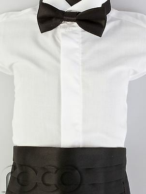 Boys Black Cummerbund & Dickie Bow Set, Boys Dickie Bow Tie, Boys Accessories