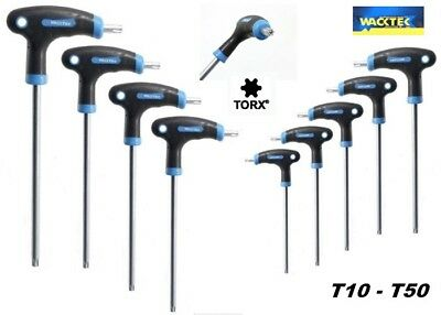 Set Di 9 Chiavi Torx Ad Elle Con Foro In Acciaio Chrome Vanadium T10 -- T50