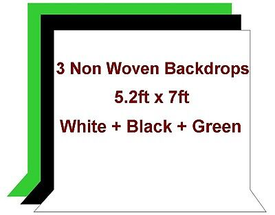 3 Studio Non Woven Fabric Backdrop Background 5.2x7 ft