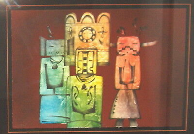 """Dan Namingha """"ancient Images"""" Lithograph, B.a.t. Signed"""