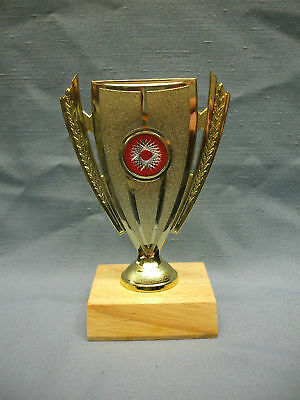 cup trophy award etched insert wood base