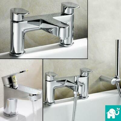 Chrome Bathroom Wash Basin Sink Bath Filler Mixer Shower Head Taps Set