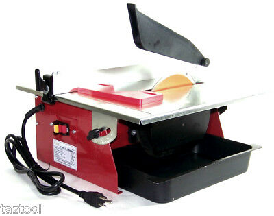 "7"" Electric Tile Cutter Wet Marble Cutter Circular Saw Top Table   UL"