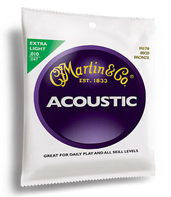 Guitar Strings Acoustic Steel Extra Light ~ Martin M170
