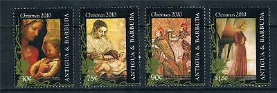 Antigua 2010 Christmas Art 4v set MNH