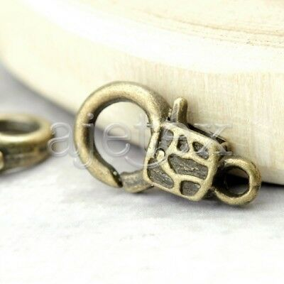 20- Lobster Claw Clasp antique brass vintage TS4223-4