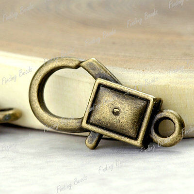 10* Lobster Claw Clasp antique brass vintage TS4254-4