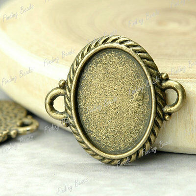10* Oval Links Cabochon antique brass vintage TS4271-4