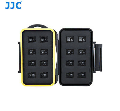 JJC Water-Resistant Anti-shock Memory Card Case for fits 16 Micro SD cards
