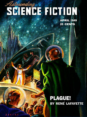 Pulp Cover Poster Jan 1949 Poster 18x24 Astounding Science Fiction V42 No 5