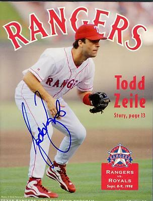 Signed Rangers Todd Zeile Autographed Game Magazine