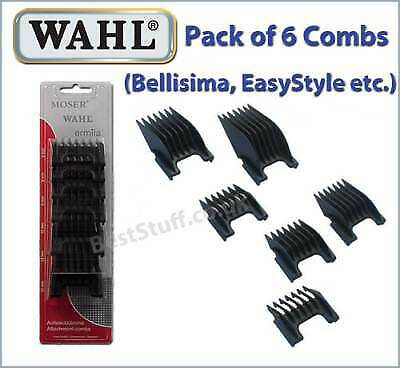 Wahl/Moser Pack of 6 Combs fits the Bellisima, EasyStyle Clippers etc
