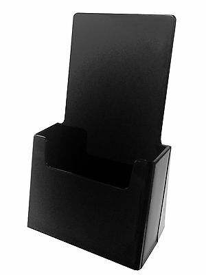 10 BLACK acrylic brochure holder display stand